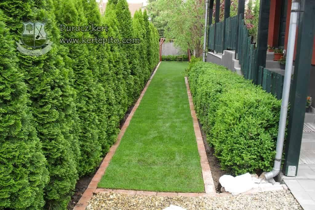 Egyenes kerti szegély